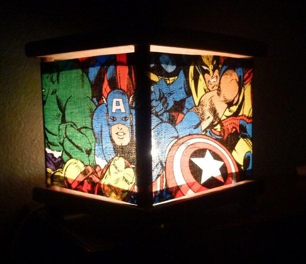 Superhero Night Light Lamp Spiderman Ironman The Hulk Thor