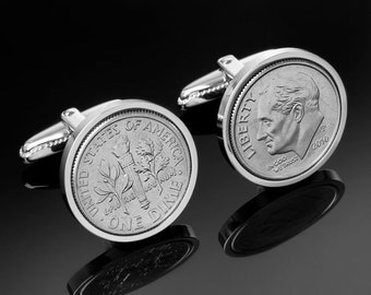 13th wedding anniversary Gift for men- 2003 Wedding Anniversary Gift-Genuine 2003 Coin Cufflinks