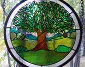 Stained Glass Tree Panel