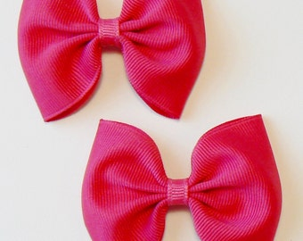 Girls Hair Bow Set Childrens Kids Boutique  Fashion Hair Clip Hairbows Hair Accessories (Set of 2) Choose Colors