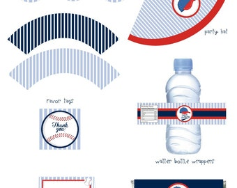 PDF Printable Baseball Party Instant Download