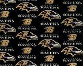 Baltimore Ravens reversible Tie on Dog Bandana