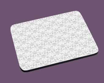 Mouse Pad - Simple Gray Floral Patterned print