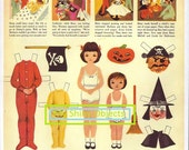 Printable Betsy McCall Halloween Paper Doll 1953