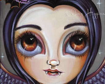 """ART PRINT """"Violet Vampiress"""" by Jaz Higgins - the perfect wall accessory for a gothic, vampire inspired home."""