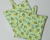 Double Insulated Pot Holder Set - Cupcake Flowers