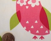 Fabric Destash - Owl Decor Fabric - 24 x 35 inches