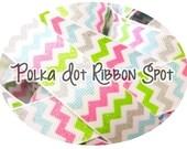 Glitter Chevron ribbon 5 yards- 7/8 inch ribbon pink, blue, grey, lime hair bow ribbon US designer ribbon