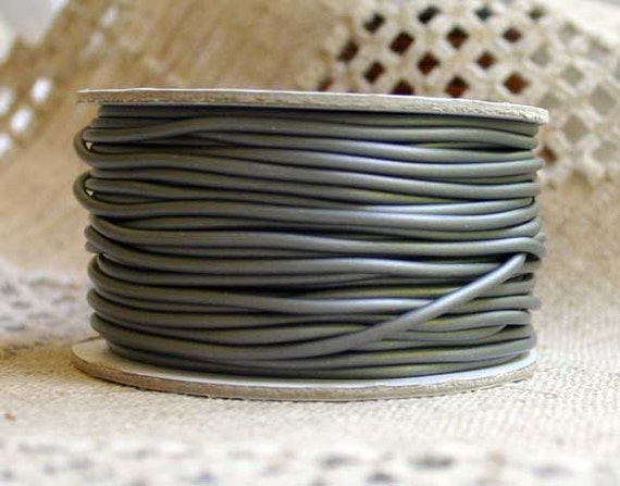 Pewter Rubber Synthetic Cord 2mm 25 Meters 82 Feet From