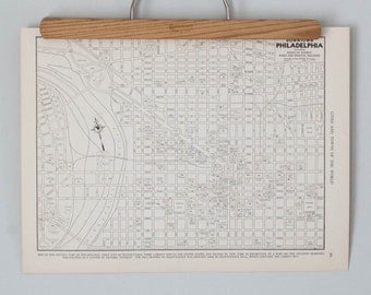Philadelphia 1930s Map | Antique Pennsylvania City Map
