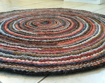 CUSTOM Round Rug - you choose size & color