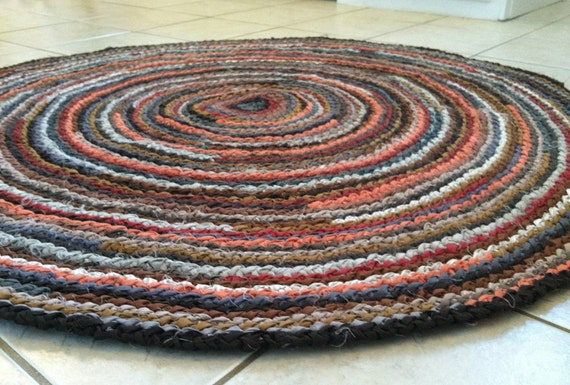 Custom round rug you choose size color for How to pick a rug color