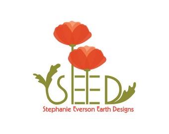 Business Logo Design -  Custom Logo Design - Logo Brand with  Business Card Design and Banner, Poppy Logo, Flower Logo