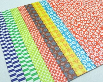 Chiyogami Paper Pack for Traditional Japanese Origami Paper Project- 20 sheets (8 designs)