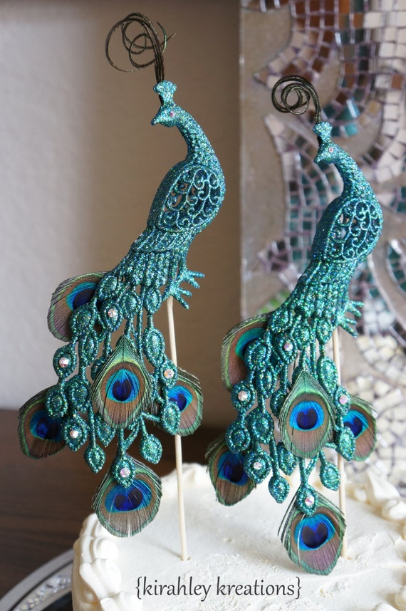 peacock wedding cake topper peacock wedding cake toppers gorgeous glittery iridescent 18161