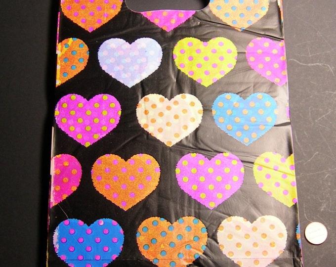 "100 - Plastic bags- Handles bags - retail bags - wholesale bags - 8""x 12"" - LDPD56"