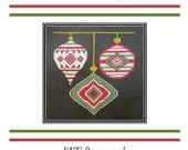 PDF E pattern emailed CHRISTMAS Ornament Holiday Cross Stitch Pattern Sampler Design 137