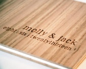 Wedding Guest Book | Wood Wedding Book | Custom Engraved Album | Engagement Gift | Shower