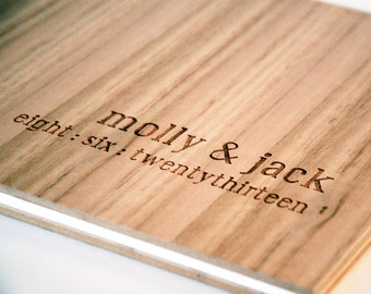wedding guest book wood custom engraved album engagement gift bridal shower // tasmanian oak