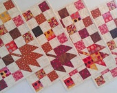 Patchwork Placemats, Oak Leaf Placemats, Thanksgiving Fall Placemats by Dreamy Vintage Sheets