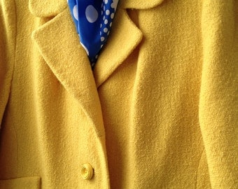 Vintage 1960s Ladies Spring Coat by Sears in Daffodil Yellow