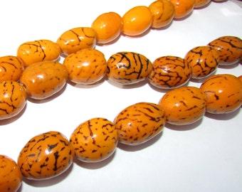Bombona Beads, Pambil Beads, Nectarine Mango Beads, Organic Beads, Natural Beads, Vegetable Ivory Beads, EcoBeads