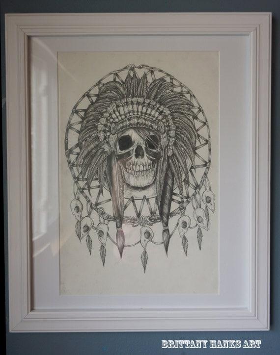 Native american indian acchiappasogni dream catcher di for Acchiappasogni disegno