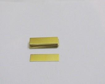 1/4 x 1 - Brass blanks - hand stamping blanks -metal blanks -stamping blanks - hand stamping supplies- rectangle blanks