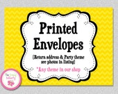 Printed Return Address Envelopes , Personalized Party Envelopes