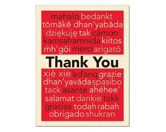 Thank You International Notecard size A2 style code OR-TY13