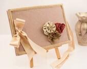 Wedding Guest Book - Romantic, Victorian Style,  Elegant Weddings