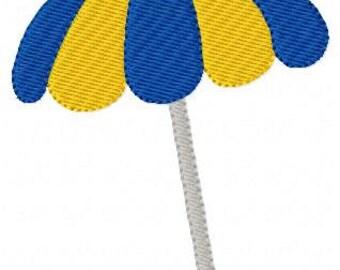 Beach Umbrella, Summer Machine Embroidery Design // Joyful Stitches
