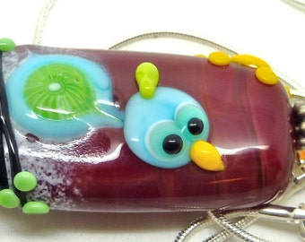 SALE!!!!   Lampwork Necklace LITTLE BIRD