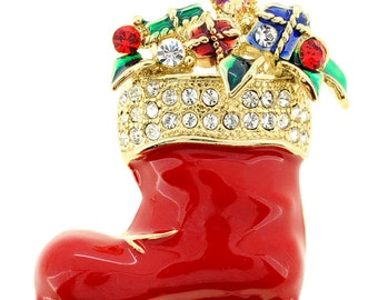 Red Christmas Boots Pin Chritmas Pin Brooch 1000802