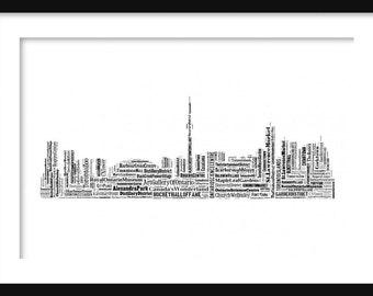 Toronto Canada Skyline Word Art Typography Print Poster