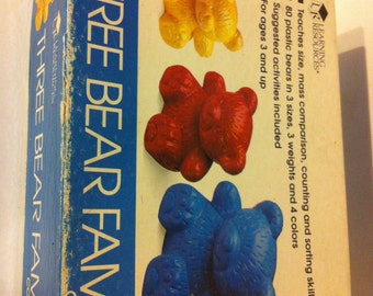 Vintage Learning Resources Three Bear Family Counters