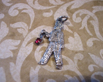VINTAGE Sterling Silver July Birthstone Charm Moves