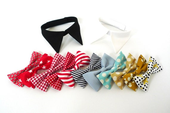 Make your own shirt collar with bow tie or necktie white for How to make a shirt for your dog