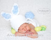 Bunny hat diaper cover, baby bunny rabbit hat and diaper cover set, bunny hat