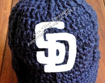 Baby San Diego Padres Baseball Hat, Padres Baby Baseball Cap, San Diego Padres Hat, Baby Padres, Baby Baseball Cap, Newborn Baseball Prop