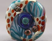 Clearance  SALE   Lampwork  Focal Bead  Boro  Tab Jewelry Supplies