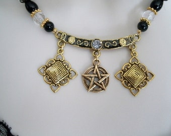 Celtic Pentacle Necklace, wiccan jewelry pagan jewelry wicca jewelry witch witchcraft pentagram goddess metaphysical druid wiccan necklace