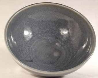 Ceramic bowl - crackled light blue, handthrown, medium-large size