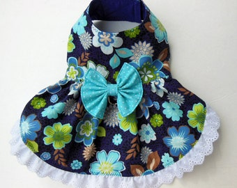 Floral Harness-Dress for Small Dog.