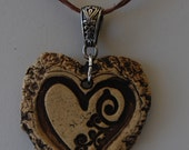 I Love,  Love Aromatherapy Stoneware Essential oil Diffuser Pendant Heart