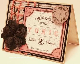 Halloween Card - Witch's Brewery - Handmade Halloween Greeting Card
