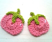 6pcs- Tomato Crochet Appliques - made to order