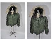 vintage military style PARKA N3B coat jacket 1970s large