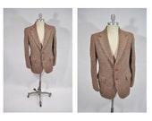 HARRIS TWEED vintage blazer suit jacket sports coat tweed 1960s mod indie professor 38 40