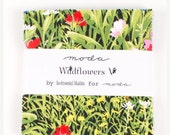"""Chistmas In July Wildflowers   5"""" Charm Squares  By Moda"""